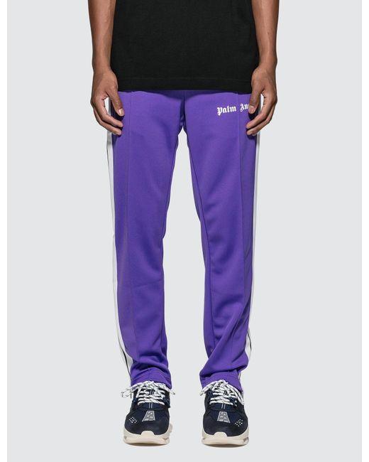 Palm Angels Purple Classic Track Pants for men