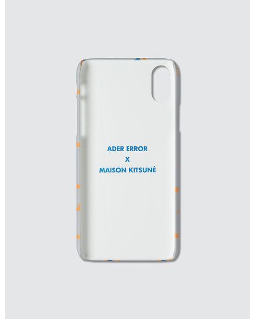 Maison Kitsuné Gray Ader Error X Kitsune Patern Iphone Xs Case