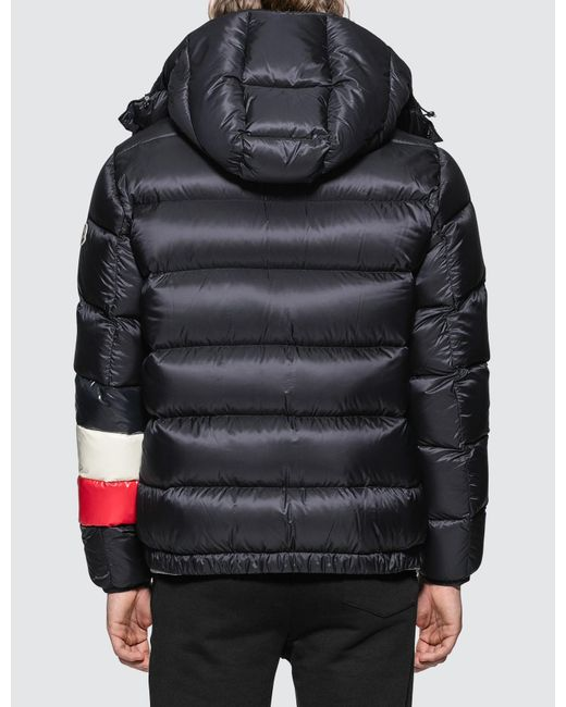 Moncler Blue Willm Tricolour Stripe Quilted-down Jacket for men