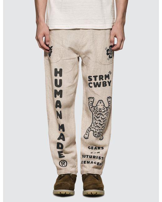 Human Made Natural Deck Pants for men