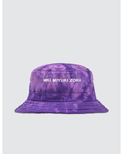 outlet boutique skate shoes preview of MKI Miyuki-Zoku Tie Dye Bucket Hat in Purple for Men - Lyst