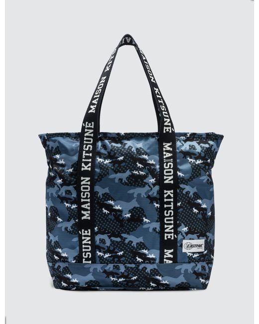 c78e365a7c7ef Lyst - Maison Kitsuné X Eastpak Flask Tote Bag in Blue for Men - Save 7%