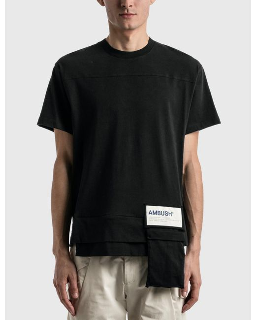 Ambush Black Waist Pocket Jersey T-shirt for men