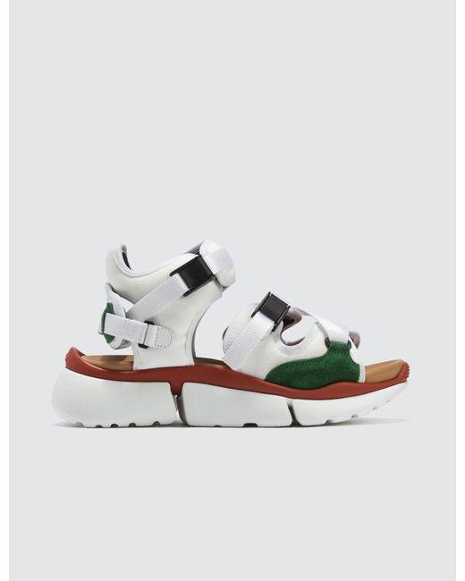 Chloé Multicolor Sonnie Sandal Sneakers