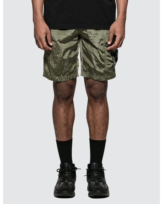 010b33ccbae37 Stone Island - Green Shorts for Men - Lyst ...