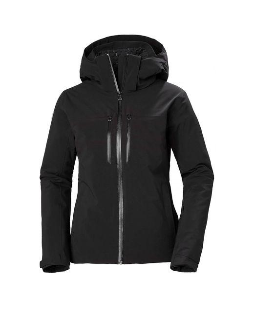 Helly Hansen Black Alphelia Lightweight Lifaloft Ski Jacket L