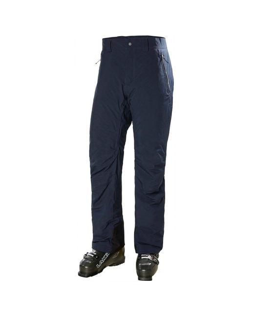 Helly Hansen Blue Bonaza Mono Material Insulated Ski Pants for men