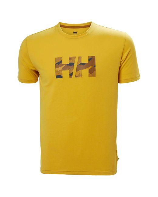 Helly Hansen Yellow Skog Recycled Graphic T-shirt Xxl for men