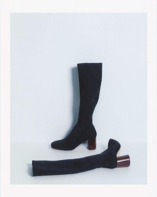 Helmut Lang   Black Tall Stretch Boot   Lyst