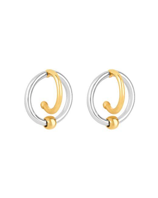 Henri Bendel | Metallic Bendel Metal Hook Hoop Earring | Lyst