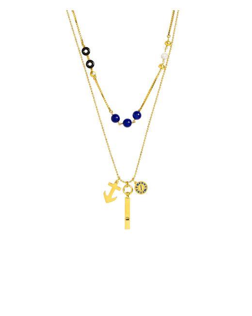Henri Bendel - Metallic Astor Double Necklace - Lyst