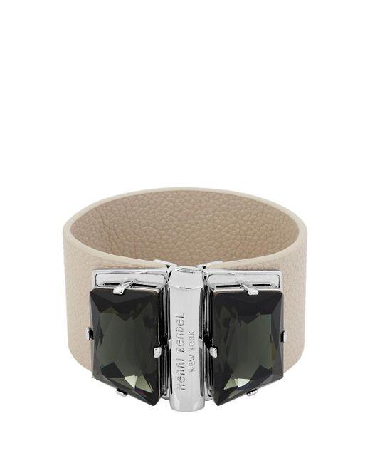 Henri Bendel - Metallic Stone Statement Bracelet - Lyst