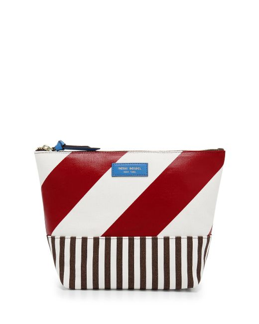 Henri Bendel - Red Striped Canvas Large Cosmetic Case - Lyst