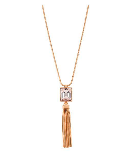 Henri Bendel | Metallic Gem Tassel Necklace | Lyst