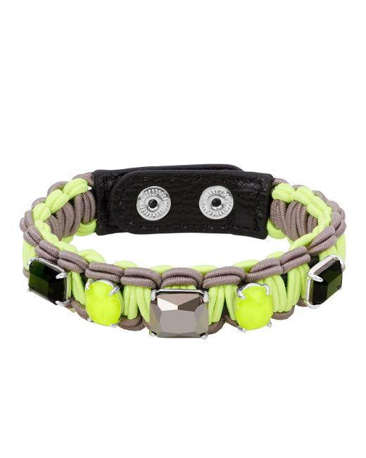Henri Bendel - Green Astor Braided Bracelet - Lyst