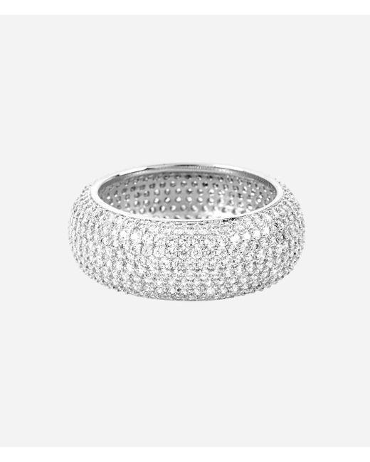 Henri Bendel | Metallic Luxe Pave Ribbon Ring | Lyst