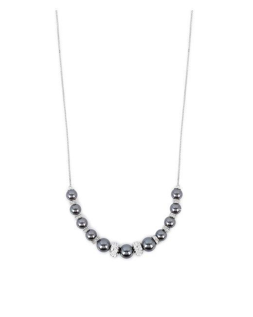 Henri Bendel - Metallic Pearl Slider Necklace - Lyst