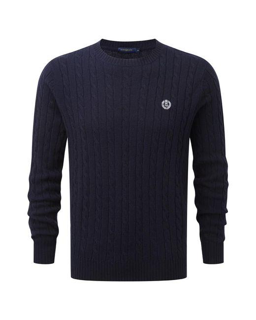 Henri Lloyd | Blue Hawley Regular Crew Neck Knit for Men | Lyst