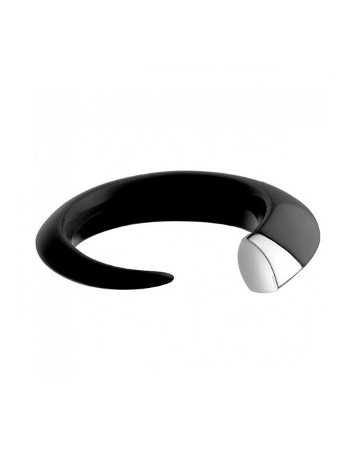 Shaun Leane | Metallic Silver And Ebony Resin Tusk Bangle Black/silver | Lyst