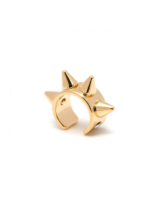Maria Francesca Pepe | Metallic Thin Spike Ear Cuff Gold | Lyst