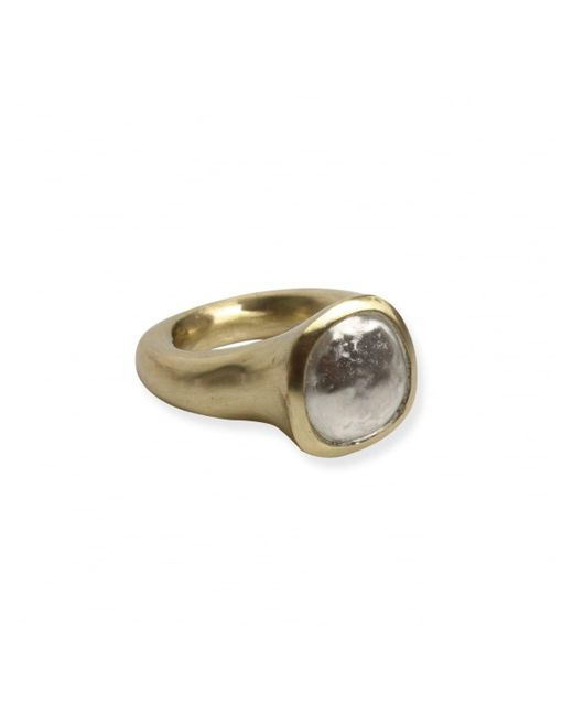Rosa Maria - Metallic Viza Silver Ring Top Ring Copper - Lyst