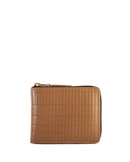Comme des Garçons Brown Sa7100bk Brick Line Zip Wallet Beige
