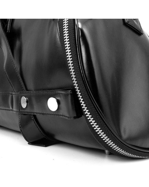 Junya Watanabe Black Asymmetric Zip-around Handbag for men