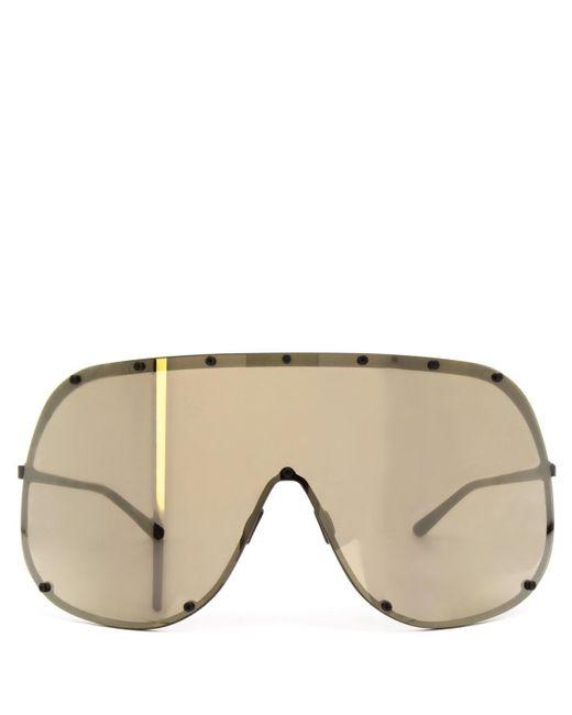 Rick Owens Multicolor Flash Gold Lens Shield Sunglasses