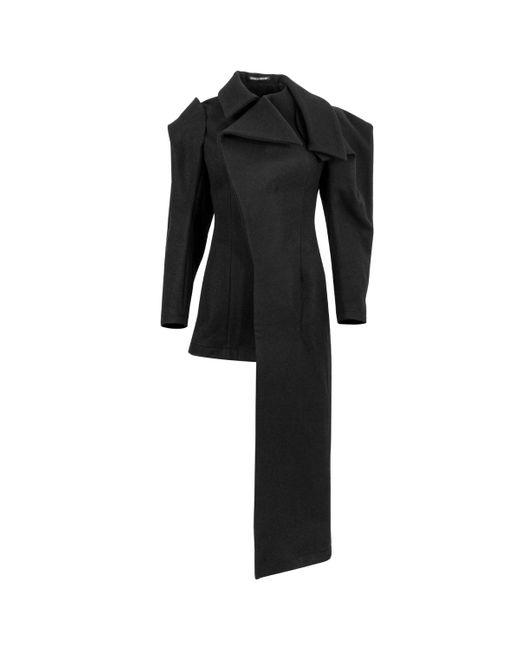Yohji Yamamoto Black Asymmetric Long Coat