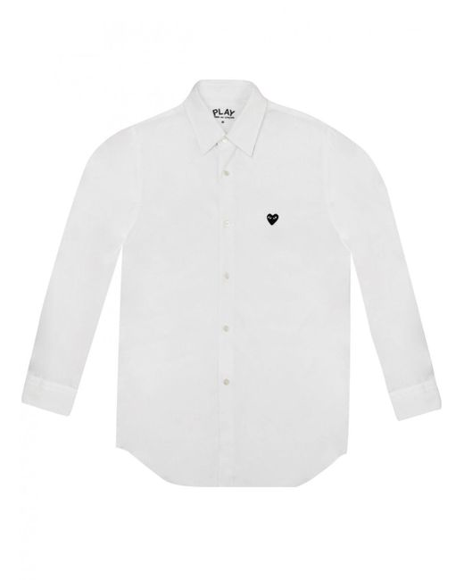 Comme des Garçons - Play Mens Small Black Heart Shirt White for Men - Lyst