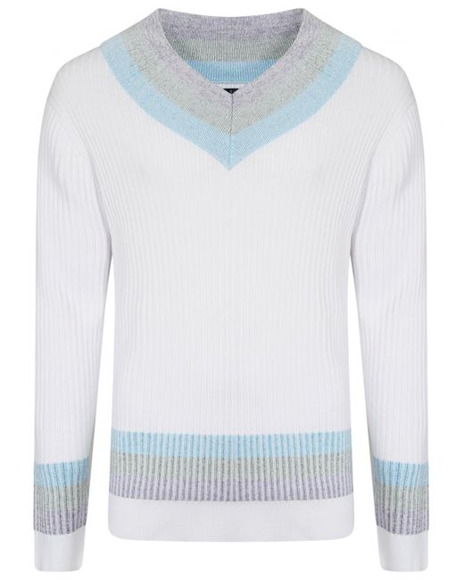 Sibling | Purple Ribbed Cricket Jumper Lilac for Men | Lyst