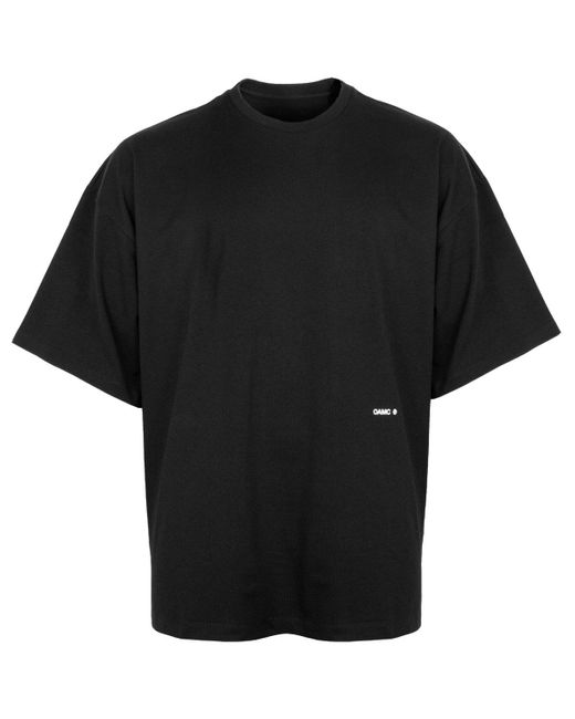 OAMC Black Boxy Fit Collage Print T-shirt for men