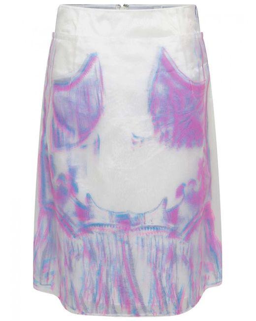 Maison Margiela Multicolor Sheer Skirt
