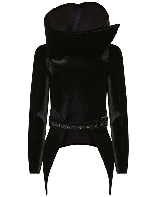 Gareth Pugh Black Funnel Neck Triangle Jacket