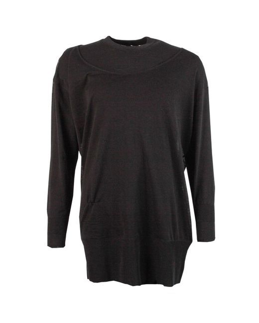 Y-3 Black Layered Knitted Longline Sweater