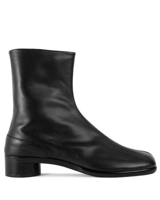 Maison Margiela Black Smooth Leather Tabi Boots for men
