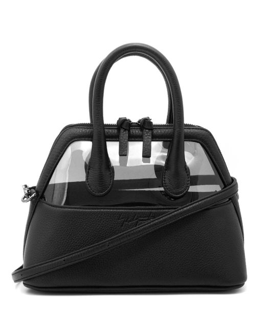 Yohji Yamamoto Black Leather/pvc Shoulder Bag for men