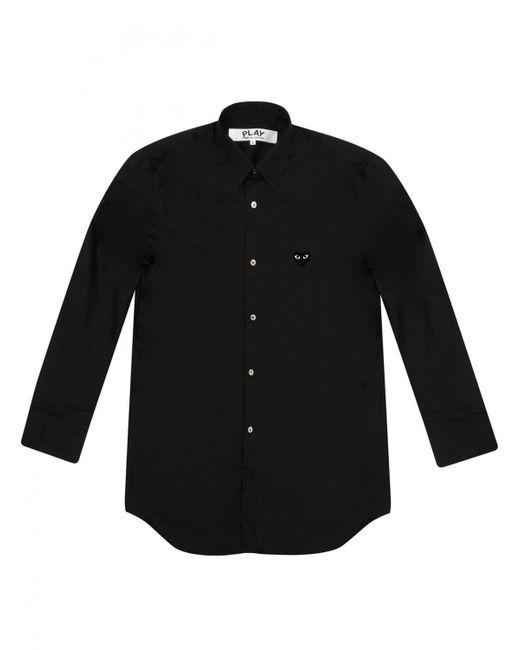 Comme des Garçons - Play Mens Black Heart Classic Shirt Black for Men - Lyst