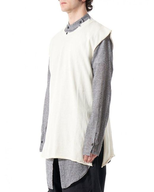 Lost and found rooms Oversized Sleeveless Sweater for Men | Lyst
