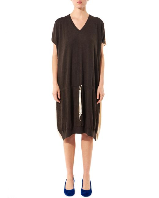 Uma Wang | Multicolor Woven Cashmere Dress | Lyst