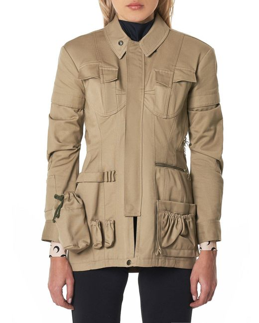 MARINE SERRE - Brown Reworked Safari Jacket - Lyst