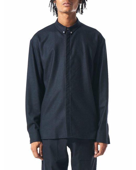 Stephan Schneider | Blue Wool Button-down Shirt for Men | Lyst