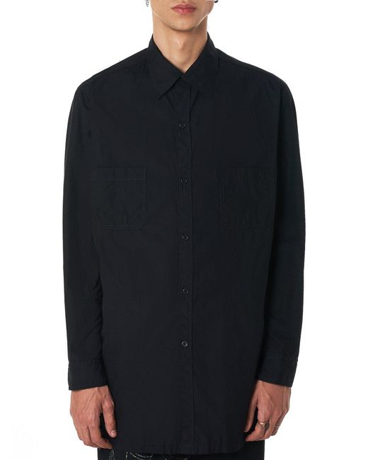 Yohji Yamamoto - Black Q-back Shirt for Men - Lyst