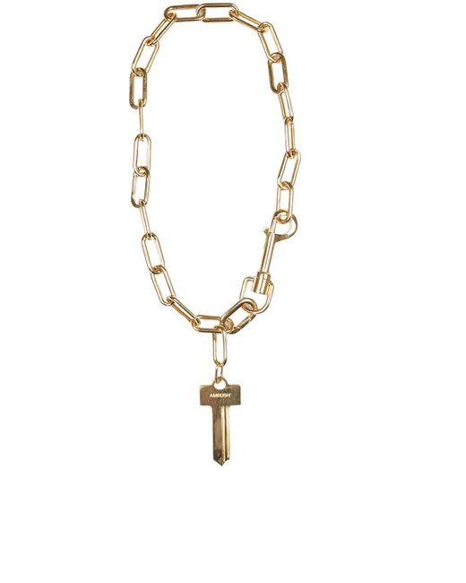 Ambush - Metallic Chain Link Key Necklace - Lyst