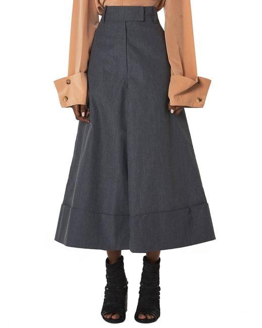Awake - Gray Pant Skirt - Lyst