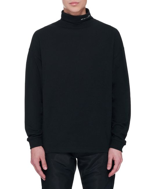 1017 ALYX 9SM Black Roll Neck Visual T-shirt for men