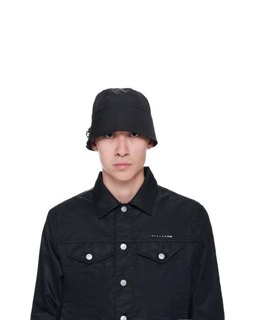 1017 ALYX 9SM Black Narrow Buckle Bucket Hat for men