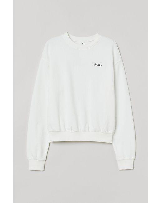Sweat H&M en coloris White