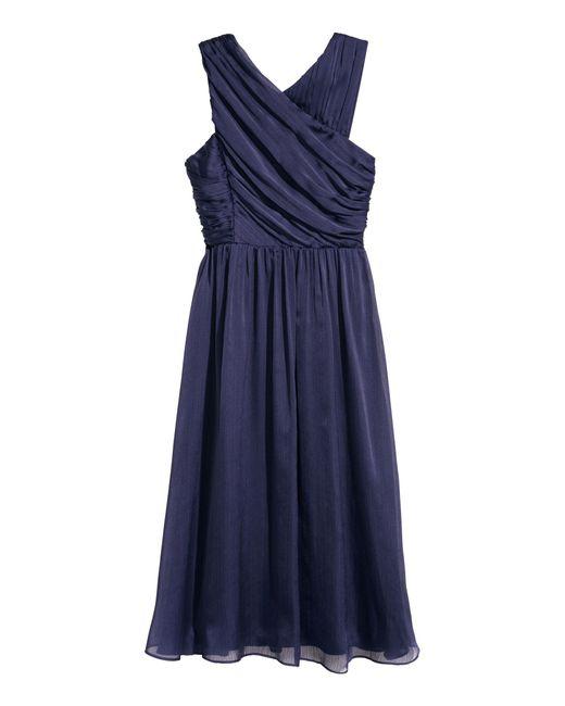 Robe drapée H&M en coloris Blue
