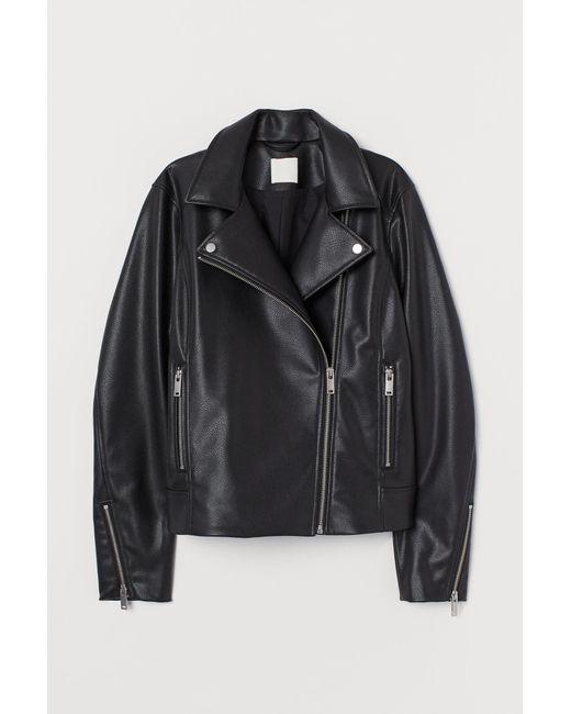 H&M Black Bikerjacke